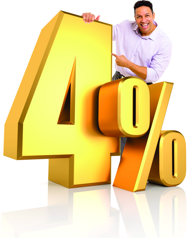 Man Holding Four Percent Image - Better Buy Realty